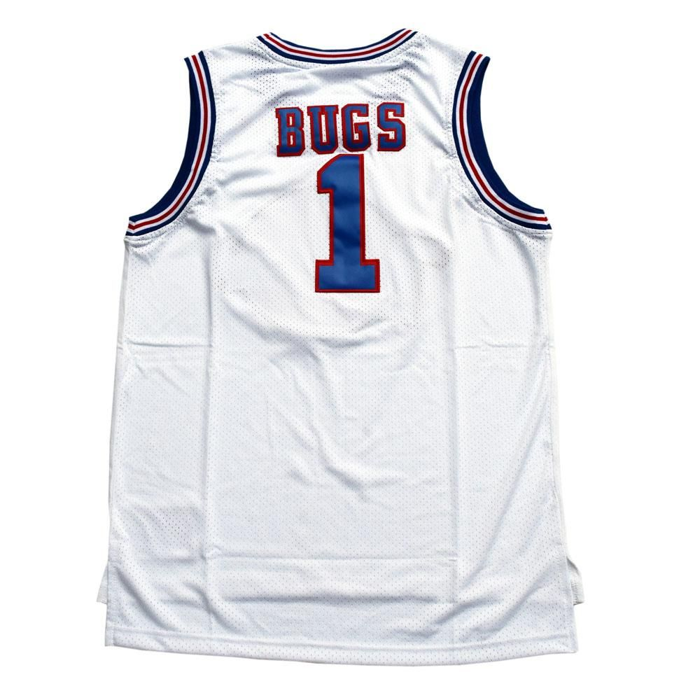 8ccc2a919 Space Jam Tune Squad Team Basketball Jersey Stitched White
