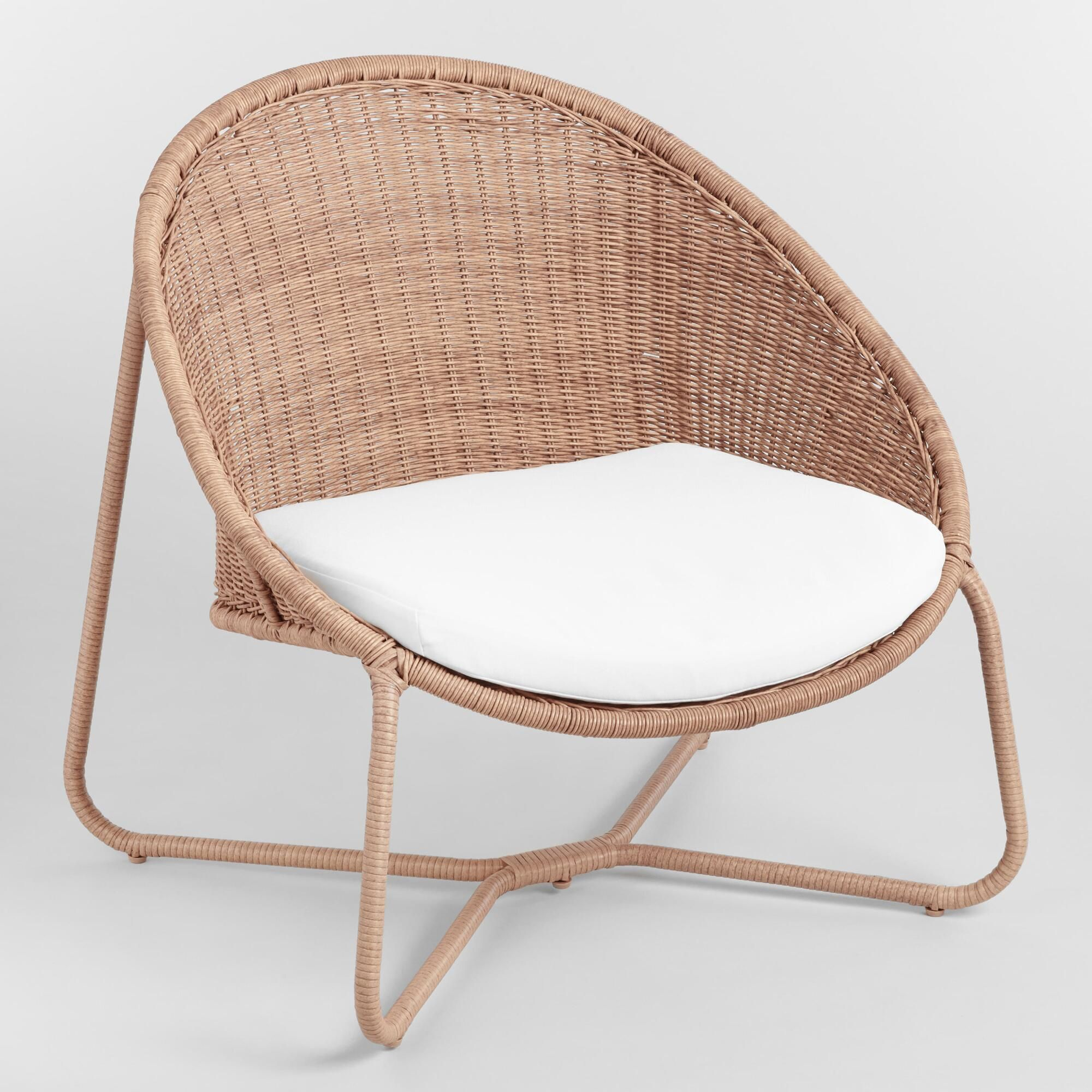 Natural All Weather Wicker Samoa Outdoor Patio Egg Chair