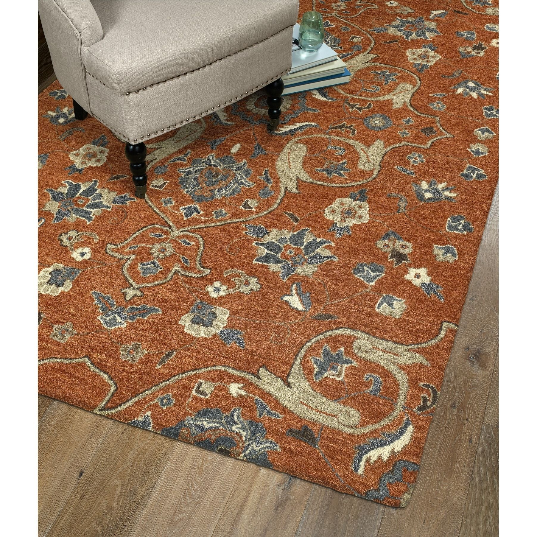Hand Tufted Christopher Paprika Wool Rug 12 X 15 Paprika 12 X 15 Orange Bombay Home Hand Tufted Rugs Colorful Rugs Rugs