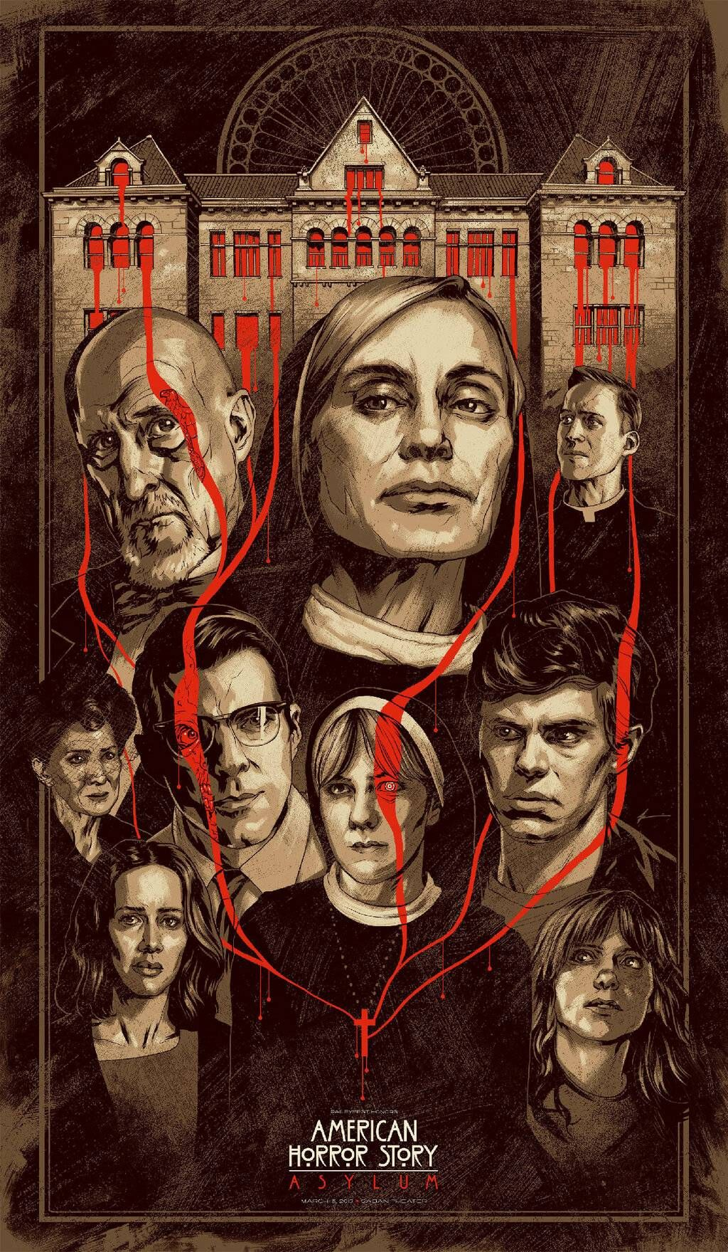 Awesome poster for an AHS: Asylum event in LA (March 15th)  Created