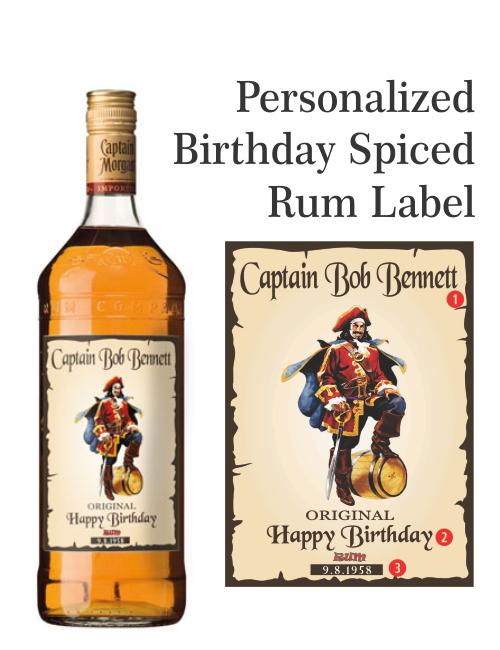Personalized Captain Morgan Rum Labels Captain Morgan Captain Morgan Rum Rum Bottle