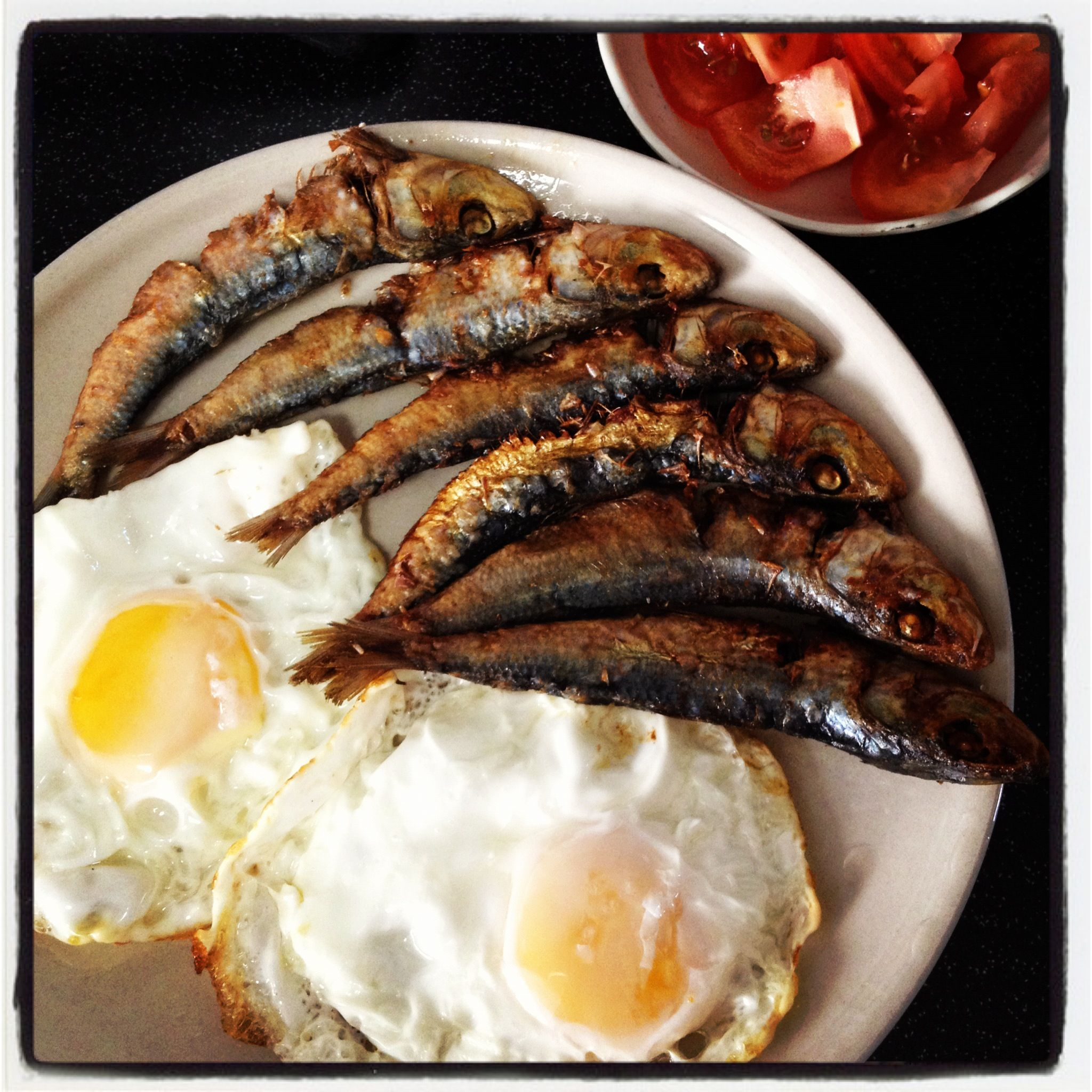 Tuyo dried fish my favorite filipino foods pinterest fish pinoy breakfast tuyo with eggs on top of garlic frie rice and crushed tomatoes on the side forumfinder Image collections