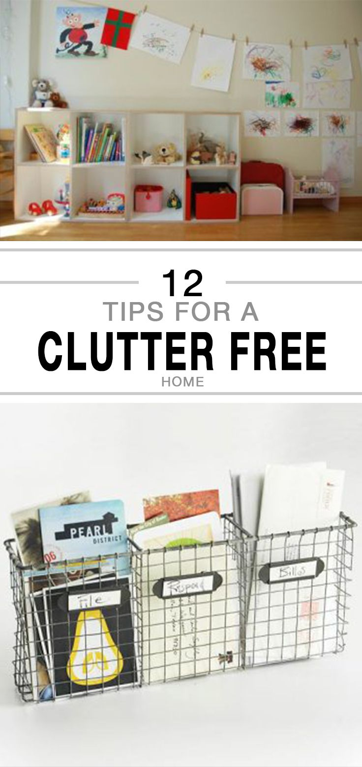 12 Tips for a Clutter Free Home | Obsessed with Organizing ...