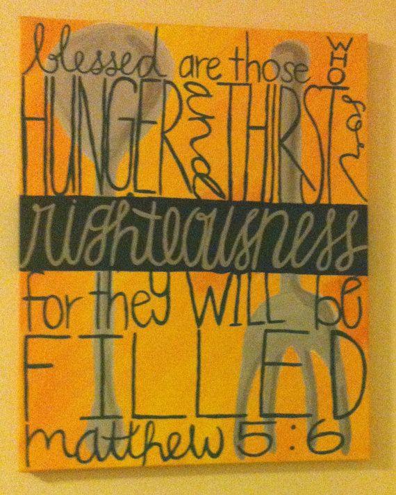 Bible Verse Wall Art Matthew 5:6 Kitchen Wall Art by exyocustomart ...