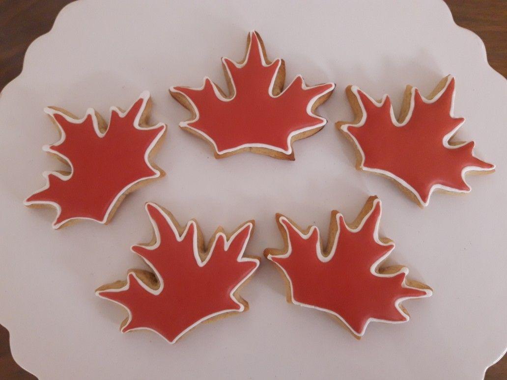 Galletas Decoradas De La Hoja De Canada La Cocina De La