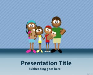 Family Four Point Template Is A Free Presentation With Design That Can Be Used For