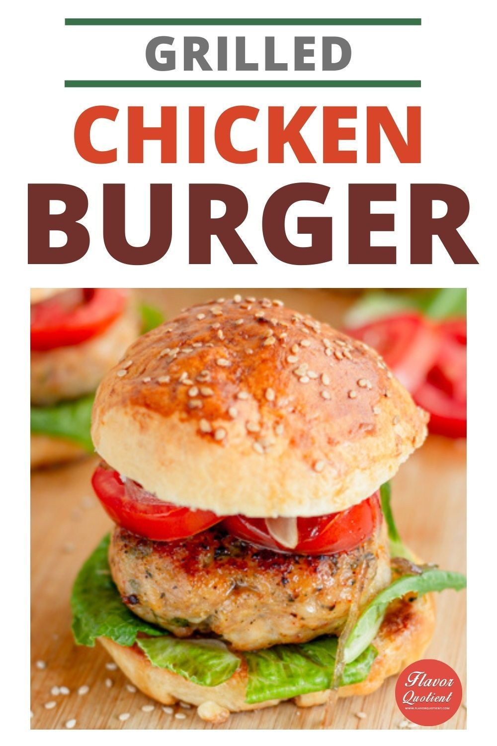 Grilled Chicken Burger W Homemade Hamburger Buns Recipe Chicken Burgers Homemade Hamburgers Grilled Chicken