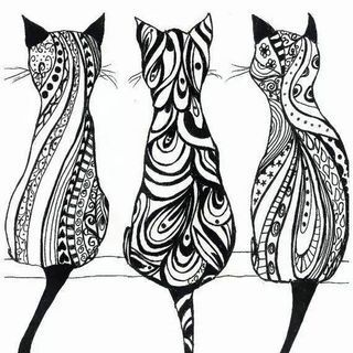 cats coloring pages for adults google zoeken