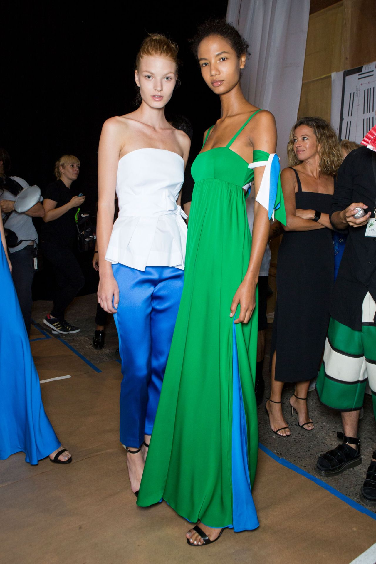 Milly Spring 2017 Backstage source:TheImpression.com Photo/Imaxtree