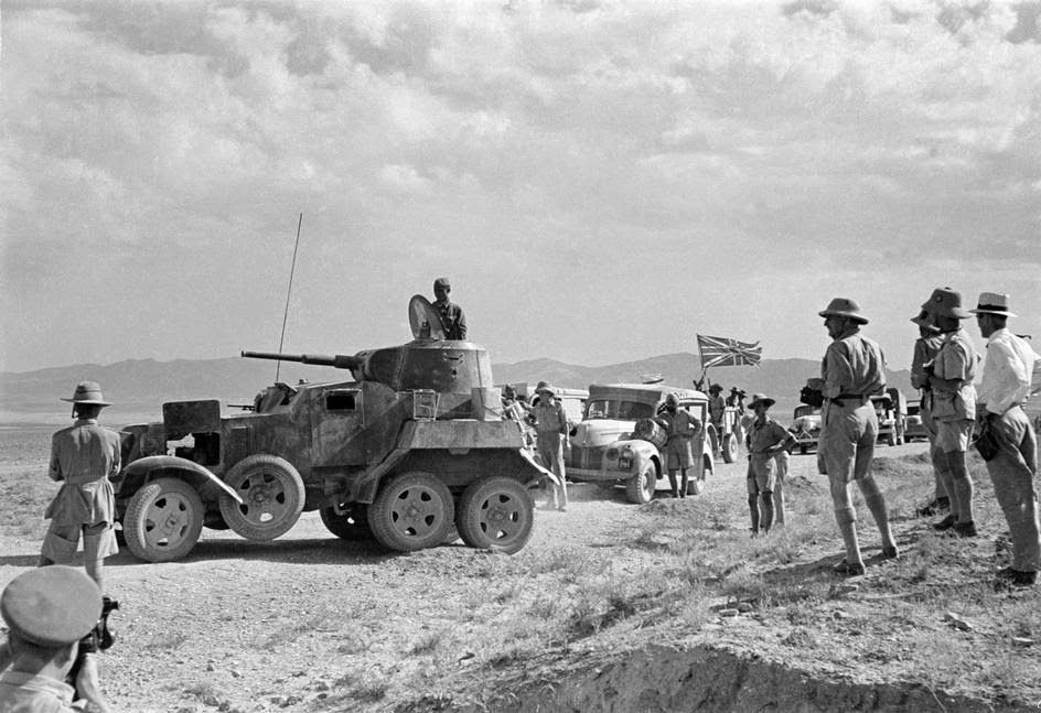 British and Gurkha troops in Persia WW2