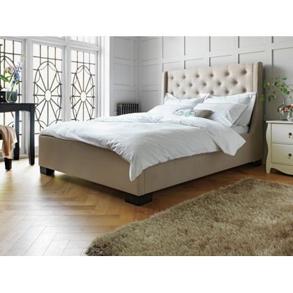 heart of house levena quilted kingsize bed frame
