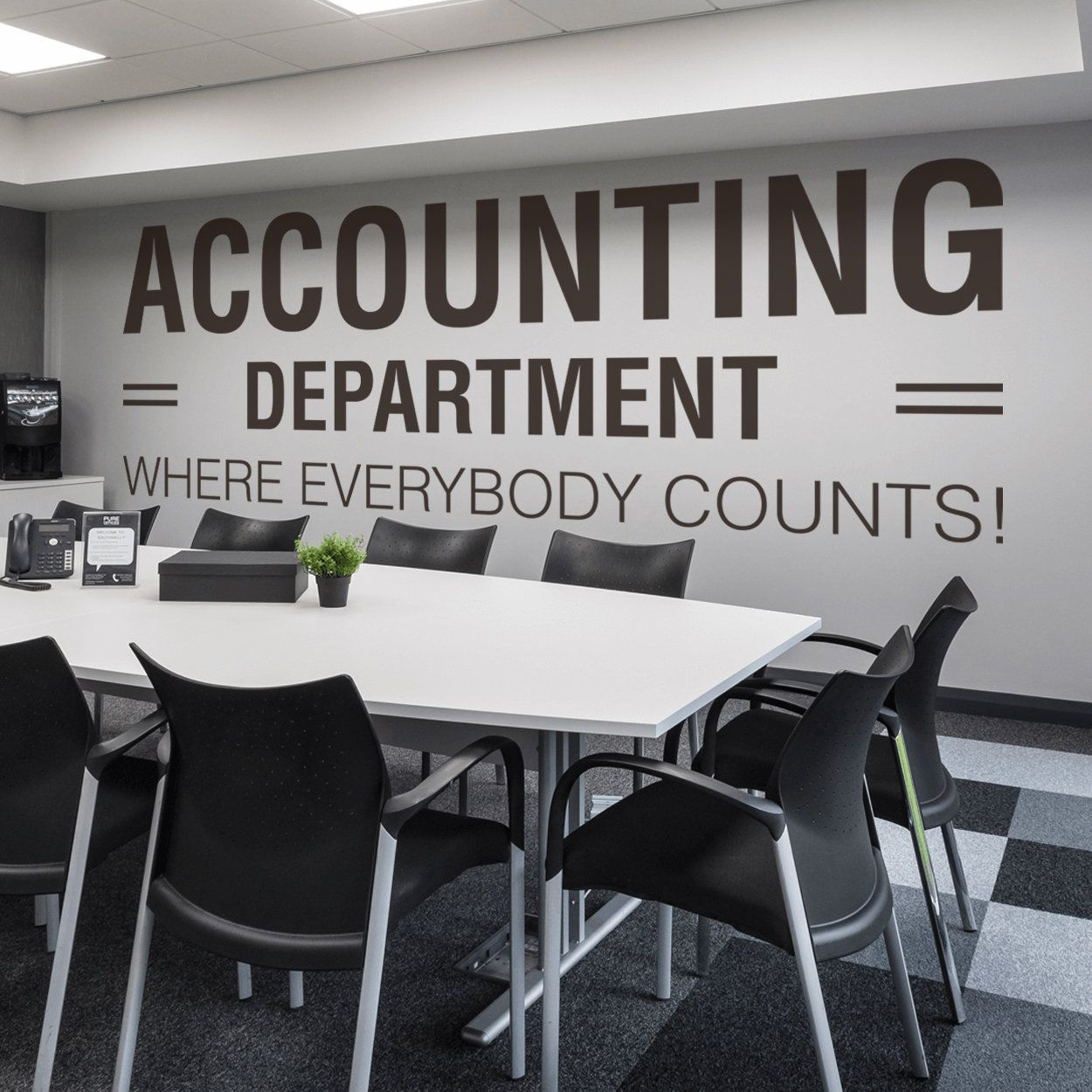 Accounting Department Office Office Wall Art Wall Decal Etsy Office Wall Art Office Walls Office Wall Design