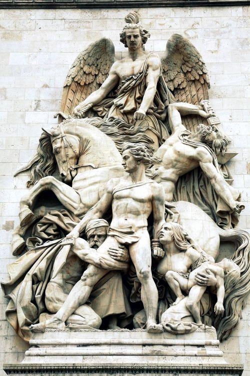 Arc De Triomphe La Resistance Par De 1814 Par Par Antoine Etex Sculpture Sculpture Art Statue