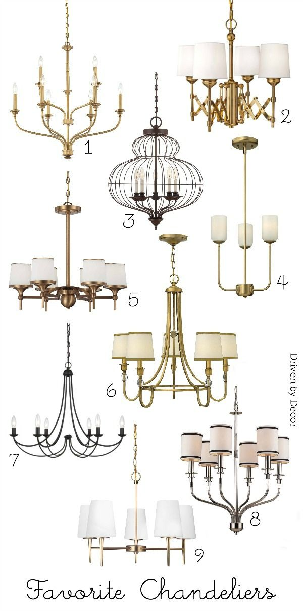 Shopping for lighting: Favorite chandeliers