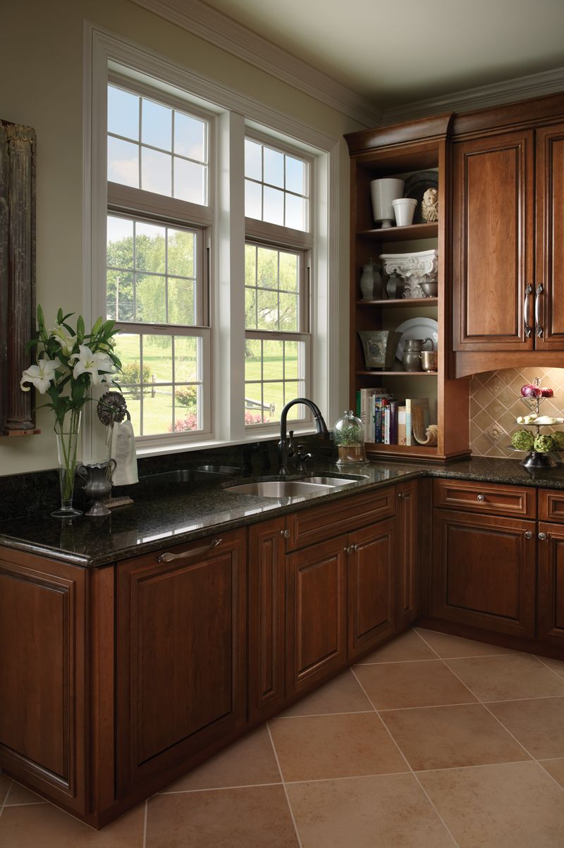 pair shelves and doorless cabinets with your kitchen cabinets for a different look featured on kitchen interior with window id=90114