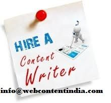Hire a best content writer in web content india here at affordable