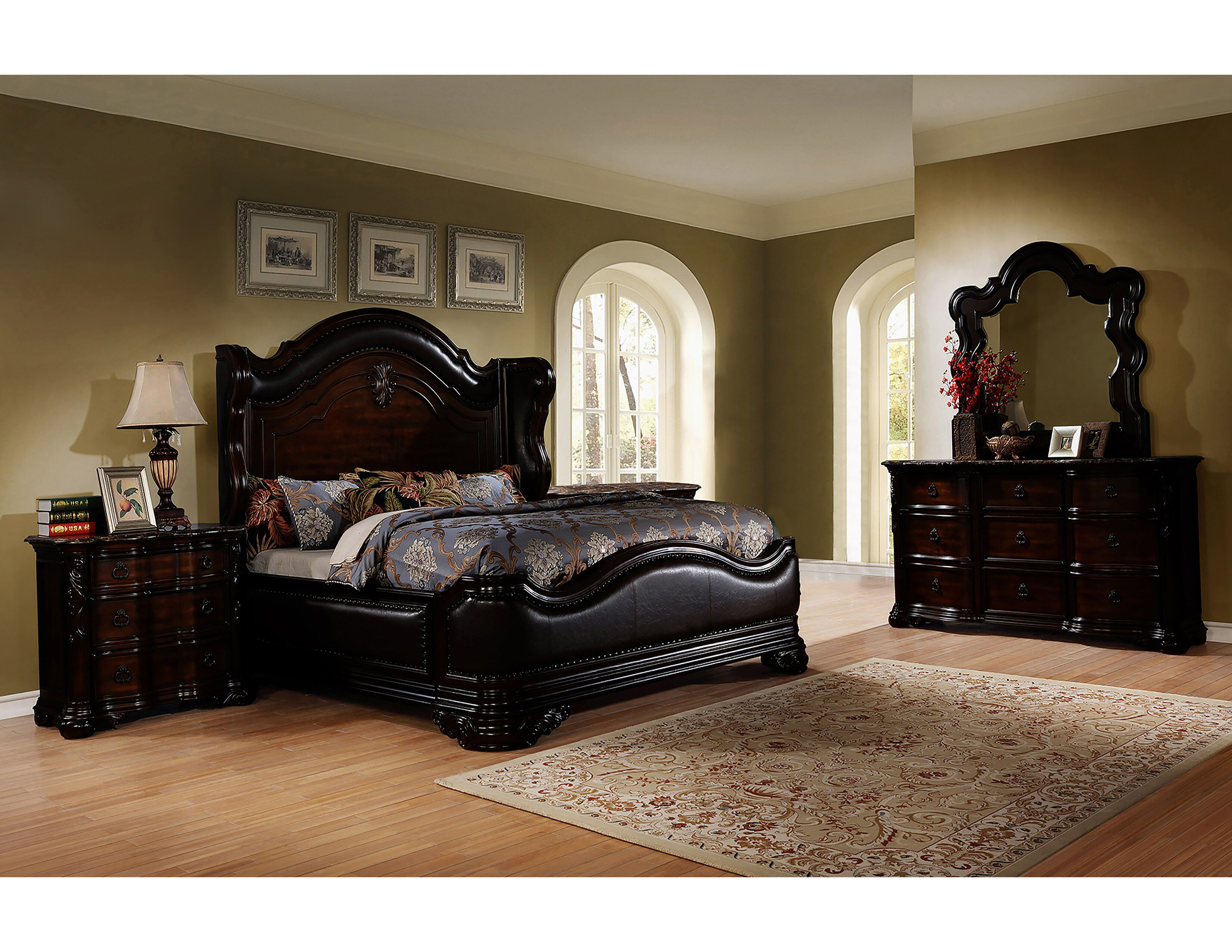 Mellina 5 Piece Cal King Bedroom Set Full Bedroom Furniture Sets King Bedroom Sets Rustic Bedroom Design