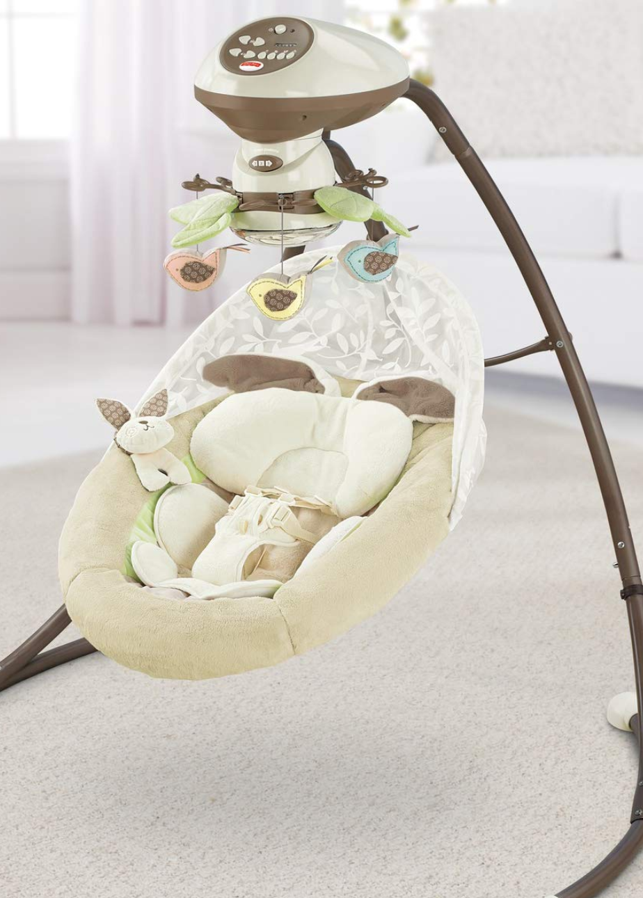 Fisher Price My Little Snugabunny Cradle N Swing Baby Swings Soothing Baby Baby Furniture