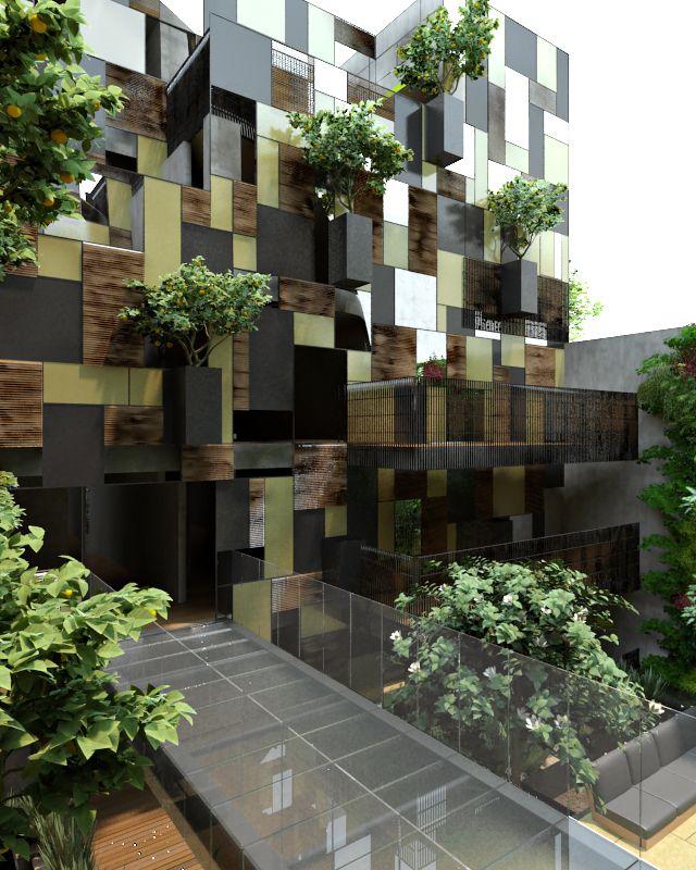 Goldsmith apartment building in polanco mexico city by pascal arquitectos i like - Grune architektur ...