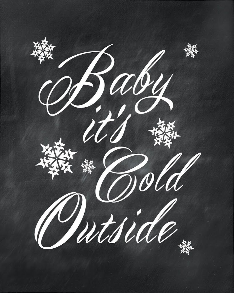 Baby it's Cold Outside Stencil - Google Search