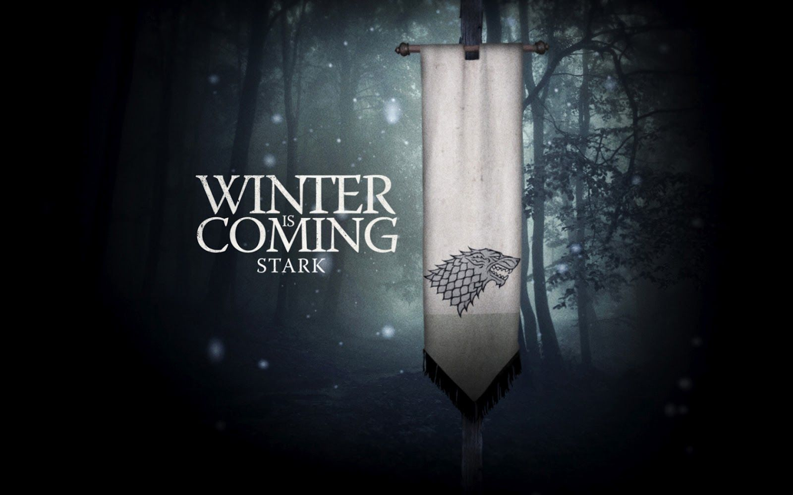 House Of Stark Game Of Thrones Poster Hbo Game Of Thrones Game Of Thrones Winter