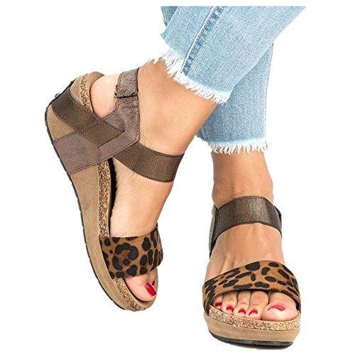 Details about  /2020 Ladies Platform Sandals Summer Comfortable Wedge High Heels Casual Top Hot
