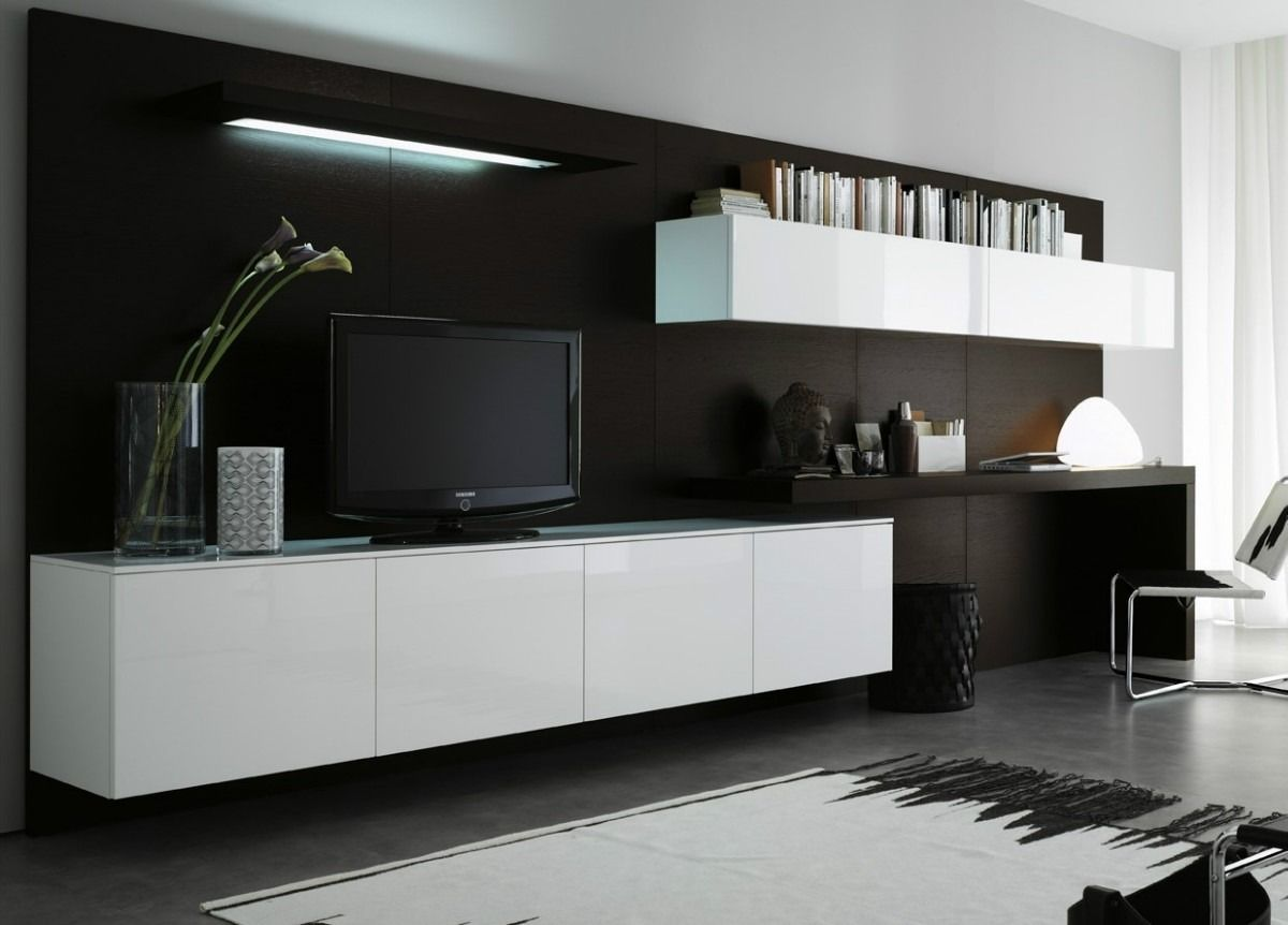 Modular Furniture Living Room Modular Lcd Rack Panel Tv Moderno Living Progetto Mobili