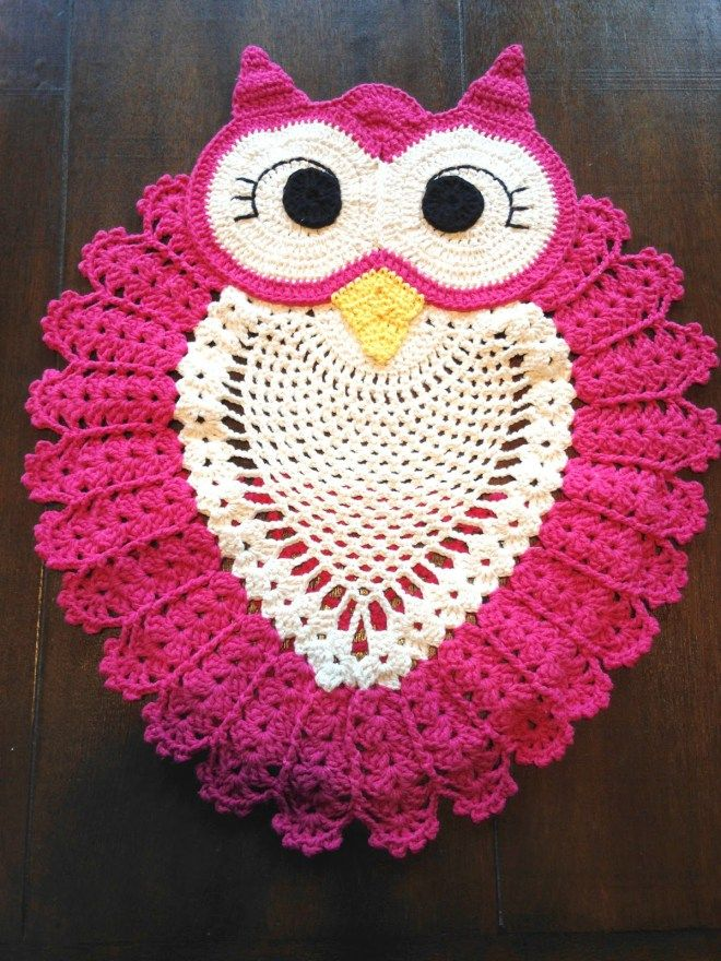 Beautiful Owl Crochet Rug+Diagram. I think it\'s the best rug EVER ...