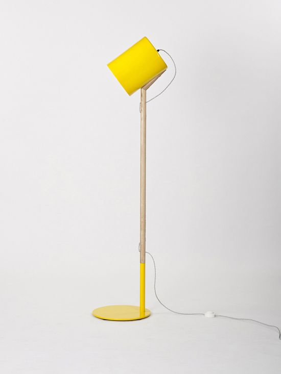 Have Summery Ambiance In Your Home With The Yellow Lean Floor Lamp ...