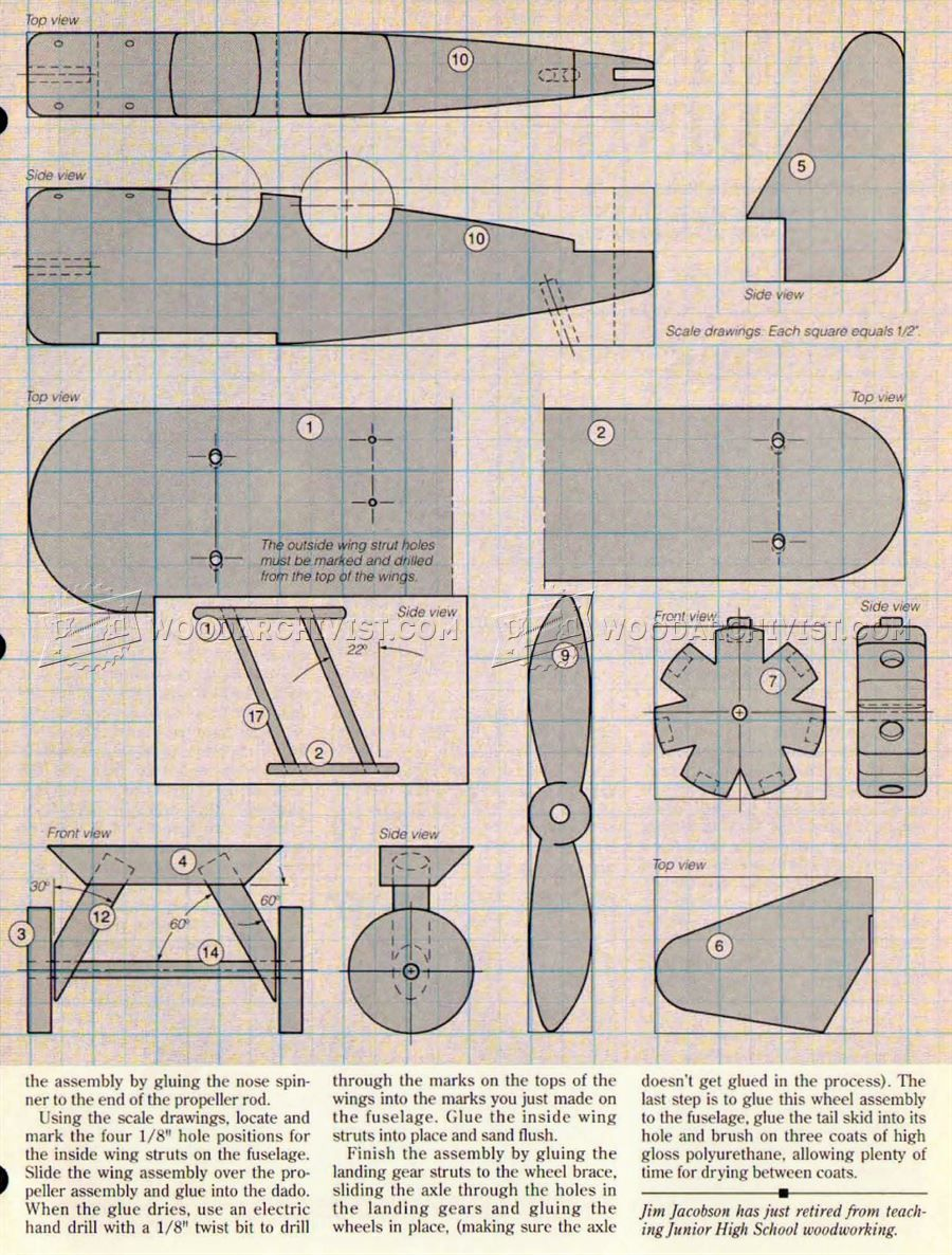 2625 wooden airplane plans - wooden toy plans | plane