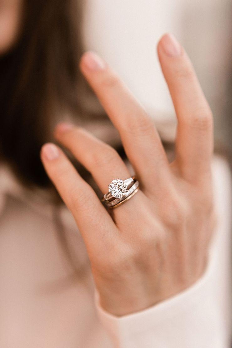 Dana Three Stone Engagement Rings Round Diamond Engagement Rings Diamond Wedding Bands
