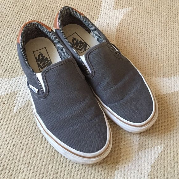 Vans Classic Slip Ons Leather and