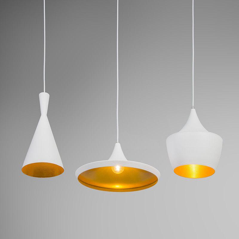 pendelleuchte depeche 3 wei gold gold leuchten und. Black Bedroom Furniture Sets. Home Design Ideas
