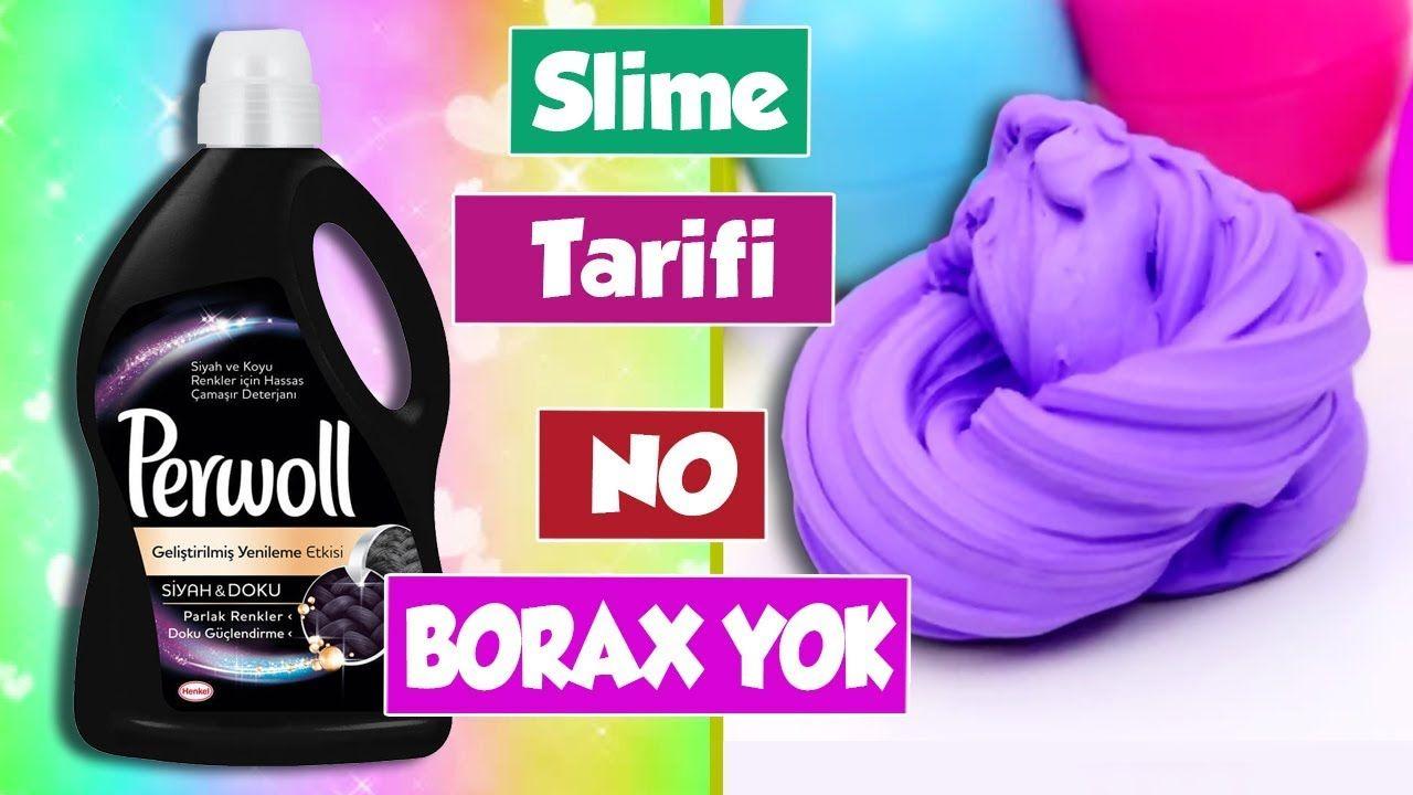 Borakssiz Slime Nasil Yapilir Perwoll Sivi Deterjan Ile Mavi Slaym Pervol Slime Izabeloi Mavi Vaseline Sabunlar