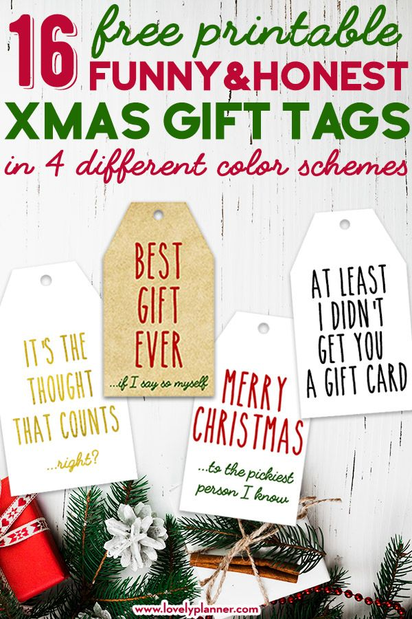 16 Free Printable Funny Honest Christmas Gift Tags Best Honest Gift Tags for Christmas: 16 FREE Printable Funny Christmas Gift Tags in 4 different color schemes!