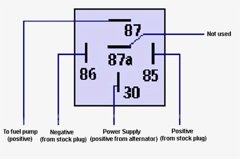 Relay Wiring Diagram 5 Pin Single Phase Water Pump Motor Best Bosch