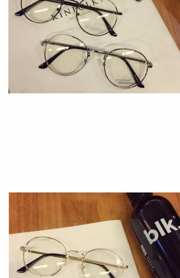 Korea ulzzang Harajuku metal round glasses frames retro art thin ...