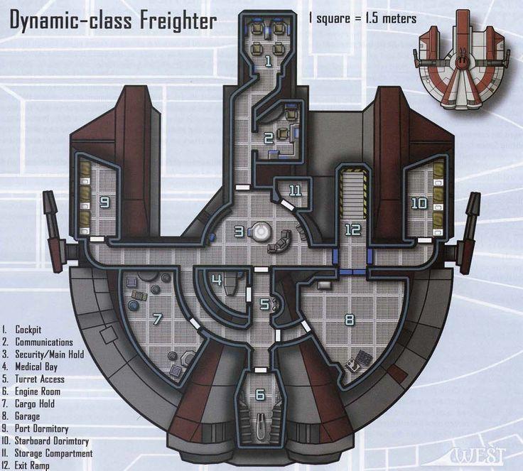 star wars freighter deck plans   star wars starship floor plans ...