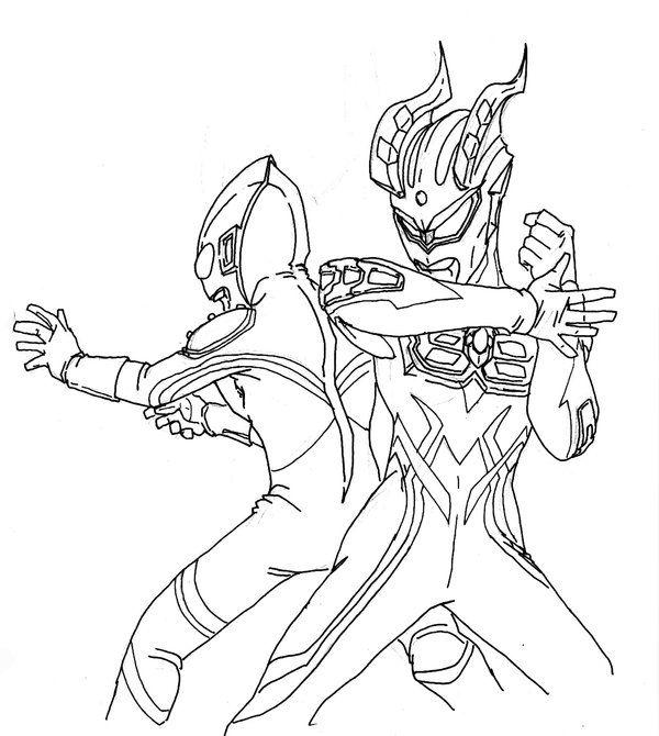 Ultraman Zero Coloring Pages Coloring Pages Buku Mewarnai Seni