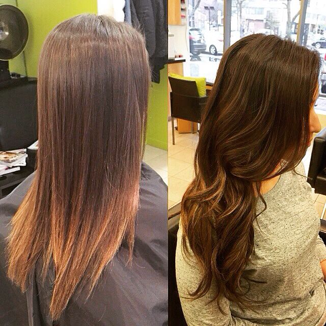 Before After Babe Hair Extensions Applied By Briana At Joi Salon