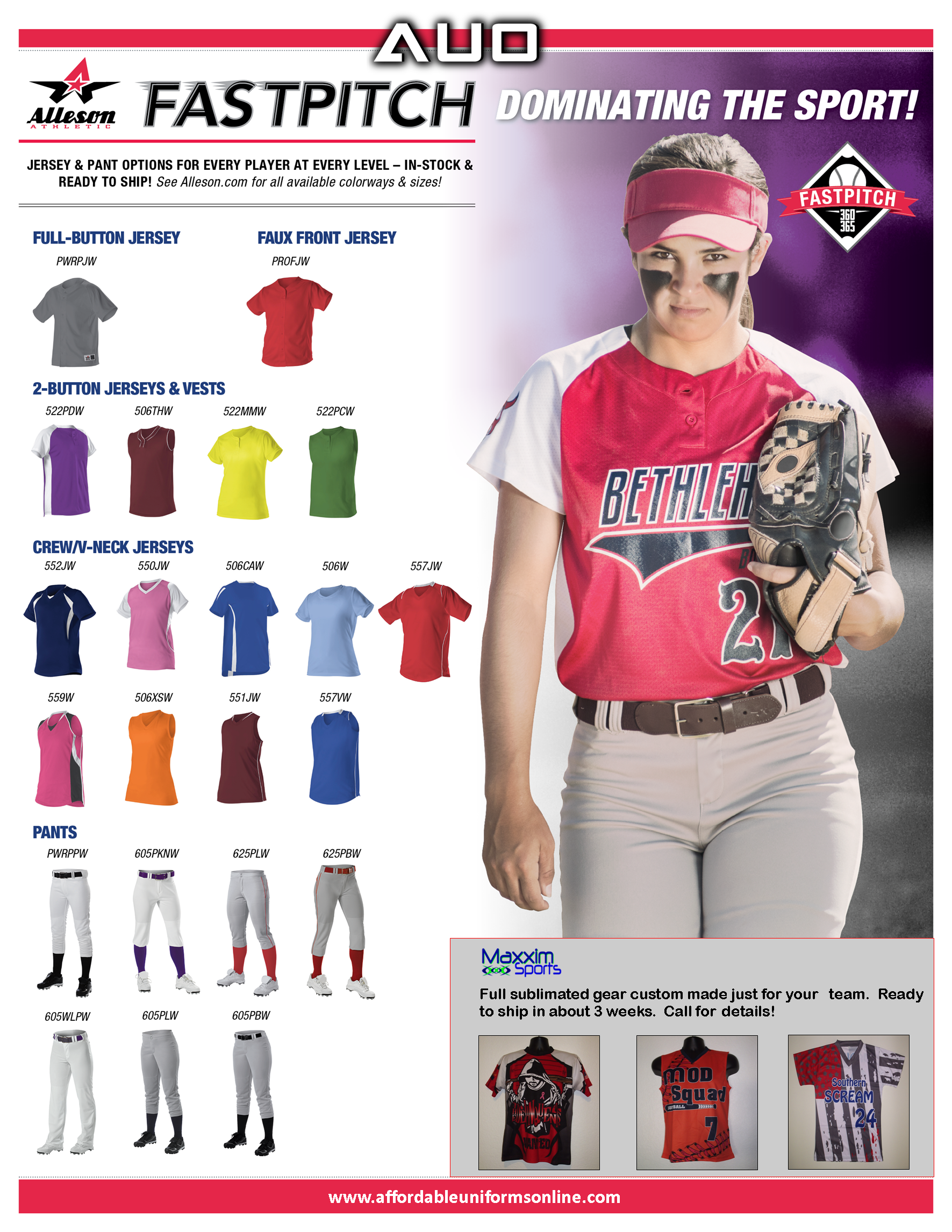 quality design 76f1c a6fc6 Custom softball uniforms created by affordable uniforms ...