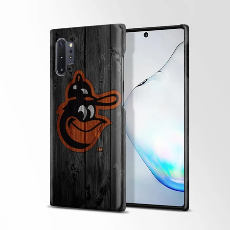 Baltimore Orioles MLB Logo Dark Wood Wallpaper Samsung Galaxy Note 10
