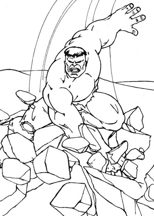 Hulk Smashing Floor Coloring Page Netart Hulk Coloring Pages Coloring Pages Coloring Pictures