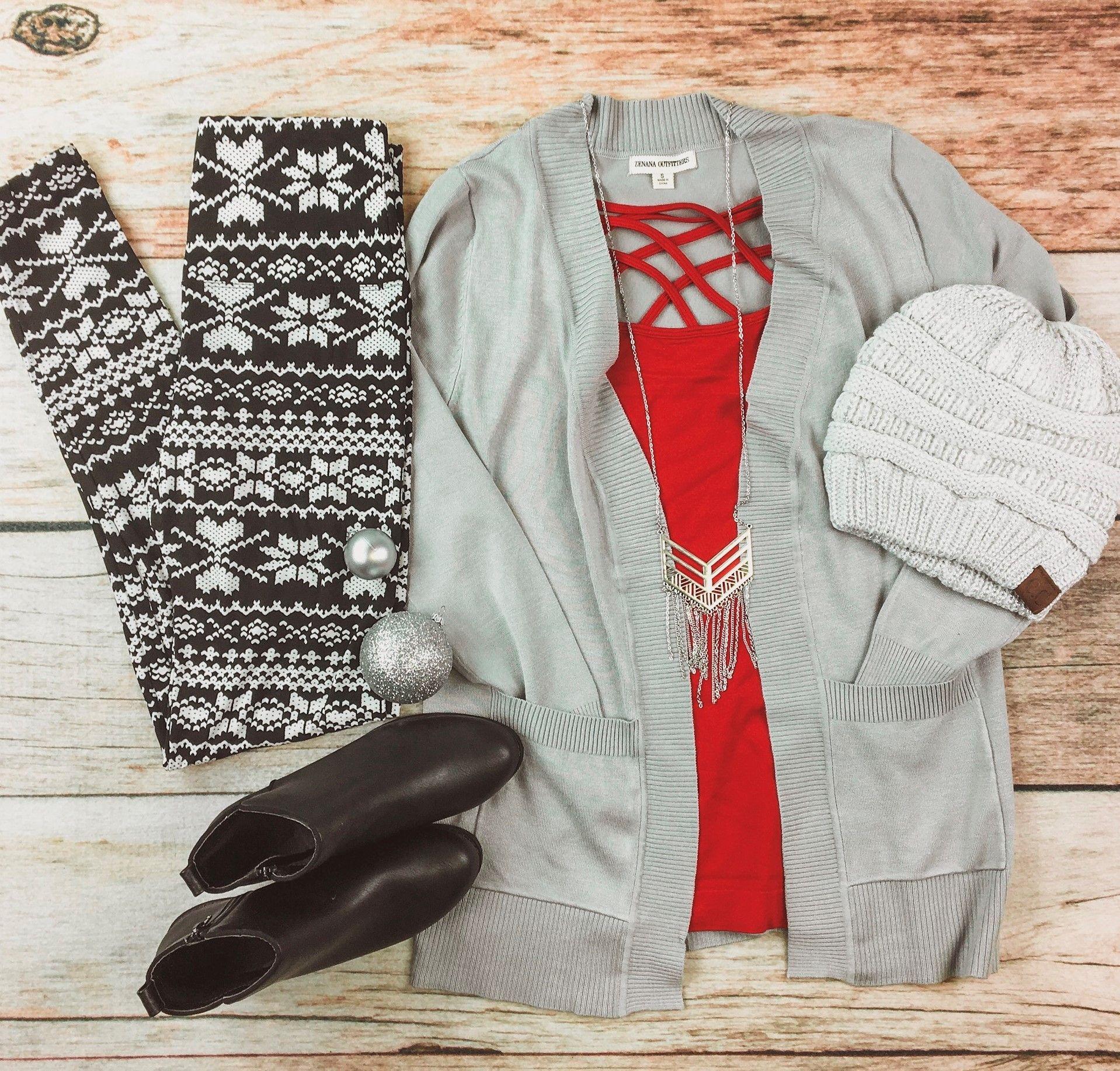 b55b277c6b8fd4 Ambrie. Ambrie clothing. christmas leggings. cc beanie. | Ambrie ...