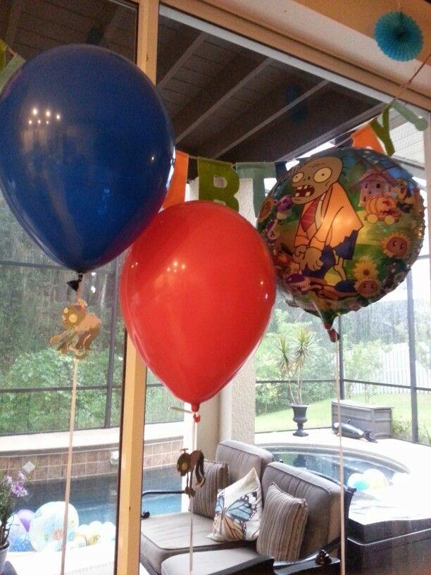 Plants vs Zombies Birthday Decorations balloons