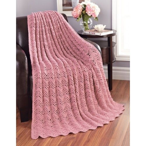 Mary Maxim - Free Lacy Bands Blanket Pattern - Patterns & Books ...