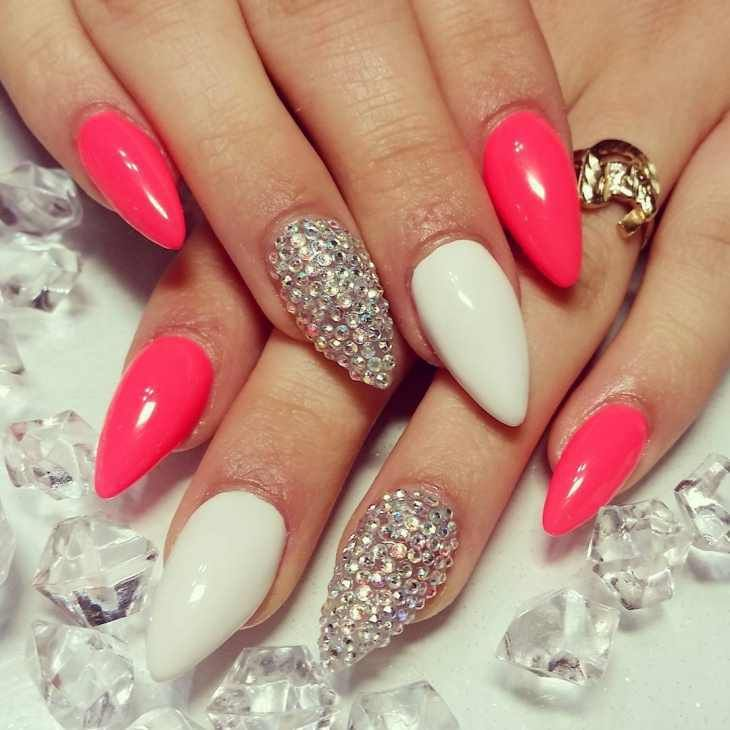 Top And Pretty Pointy Nail Designs 2016 Style You 7 Pointy Nail Designs Pointy Nails Coral Nails With Design