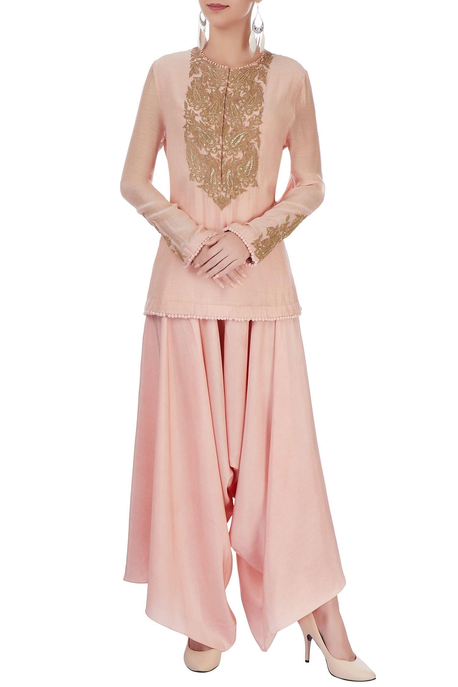 Blush pink kurta set with embroidery | shaba | Pinterest | Traje y ...