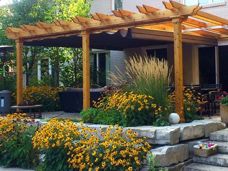 Retractable Pergola Cover That Can Handle The Wind And Rain For When We Redo The Deck Backyard Pergola Backyard Pergola Patio