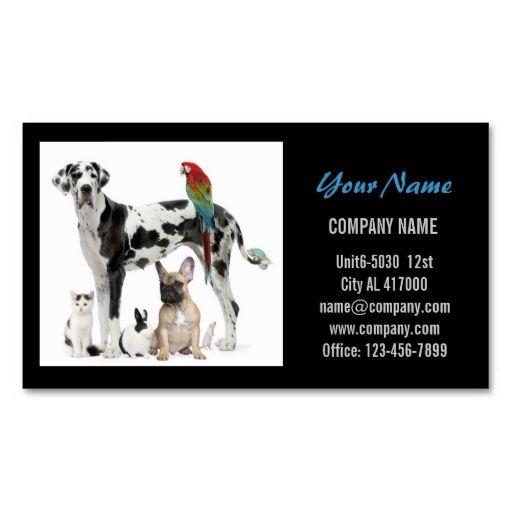 Modern cute animals pet service beauty salon business card reheart Choice Image